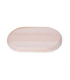 Soporte, peana madera de pino macizo redonda