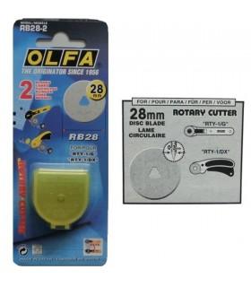 Recambio Cuchillas Olfa para Cutter 28 mm
