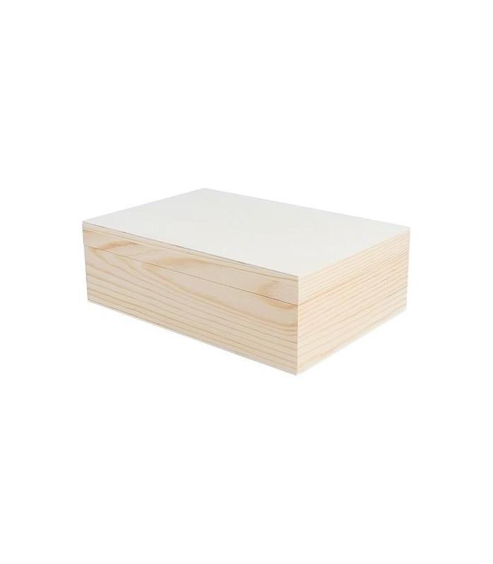 Caja de madera sin cierre para decorar - Cajas madera para decorar ...