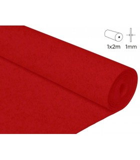 2 mts fieltro rojo 1mm grosor