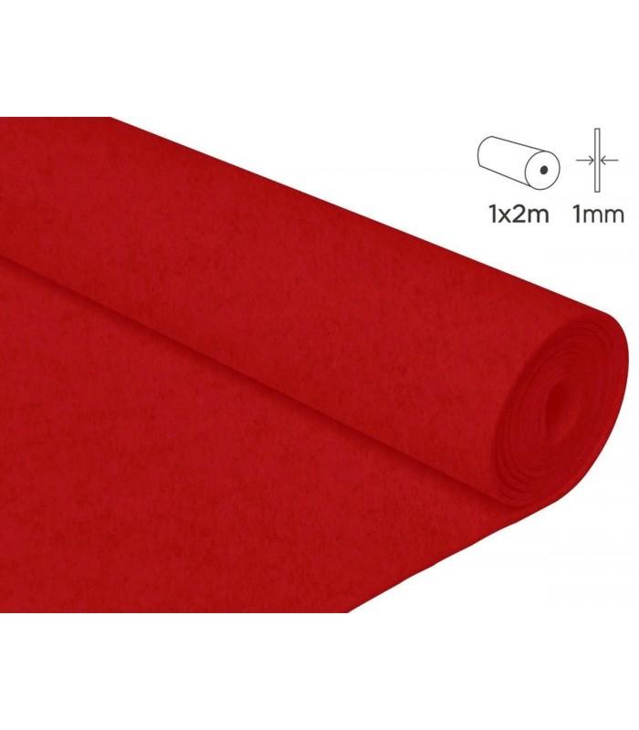 2 mts fieltro rojo 1mm grosor