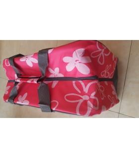 Maleta rosa para máquina de coser