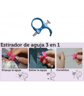 Estirador de aguja Azul con corta hilo