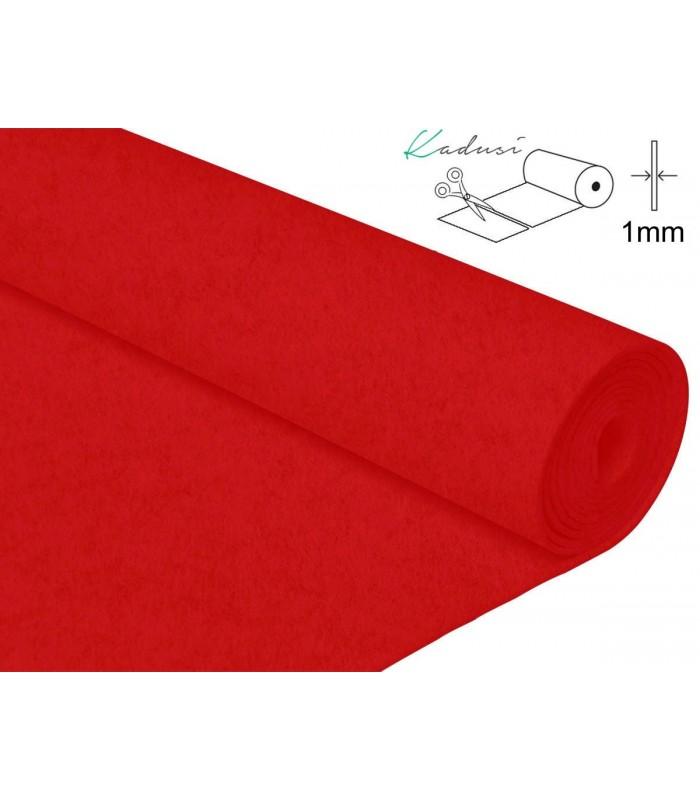 FIeltro a metros Rojo 1mm grosor