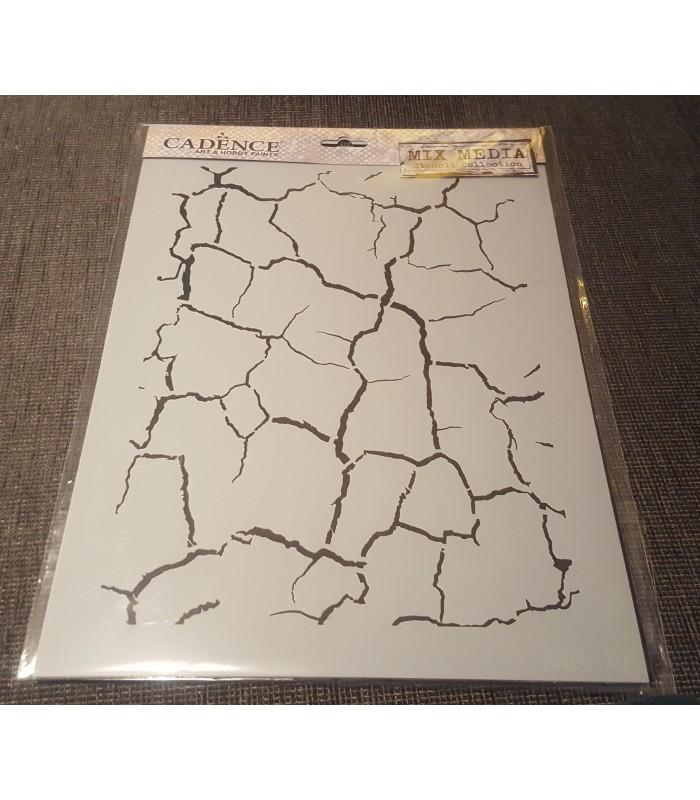 Stencil craquelado 21x30 cm - Plantilla