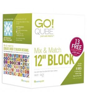 "Accuquilt Go - Cubo 8 formas de corte bloque 12"" (GO)"