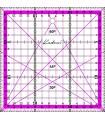 15x15 Regla para Patchwork Kadusi rosa