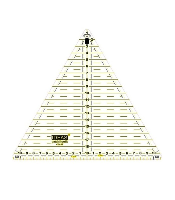 Regla Triangulo para Patchwork