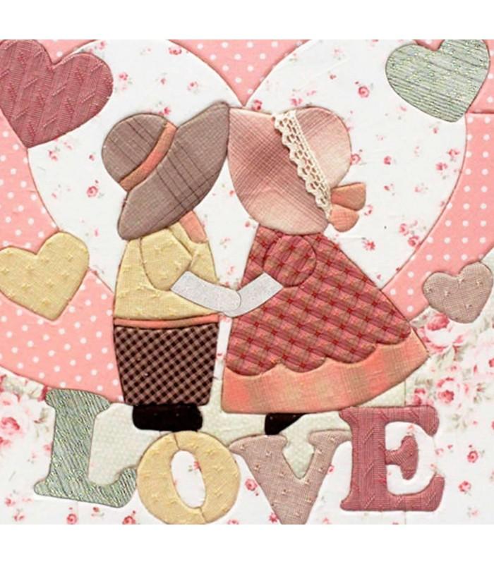 Set de patchwork sin aguja LOVE SUNBONNET VALENTINE
