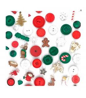 Botones decorativos para patchwork de navidad - Decorativos de navidad ...