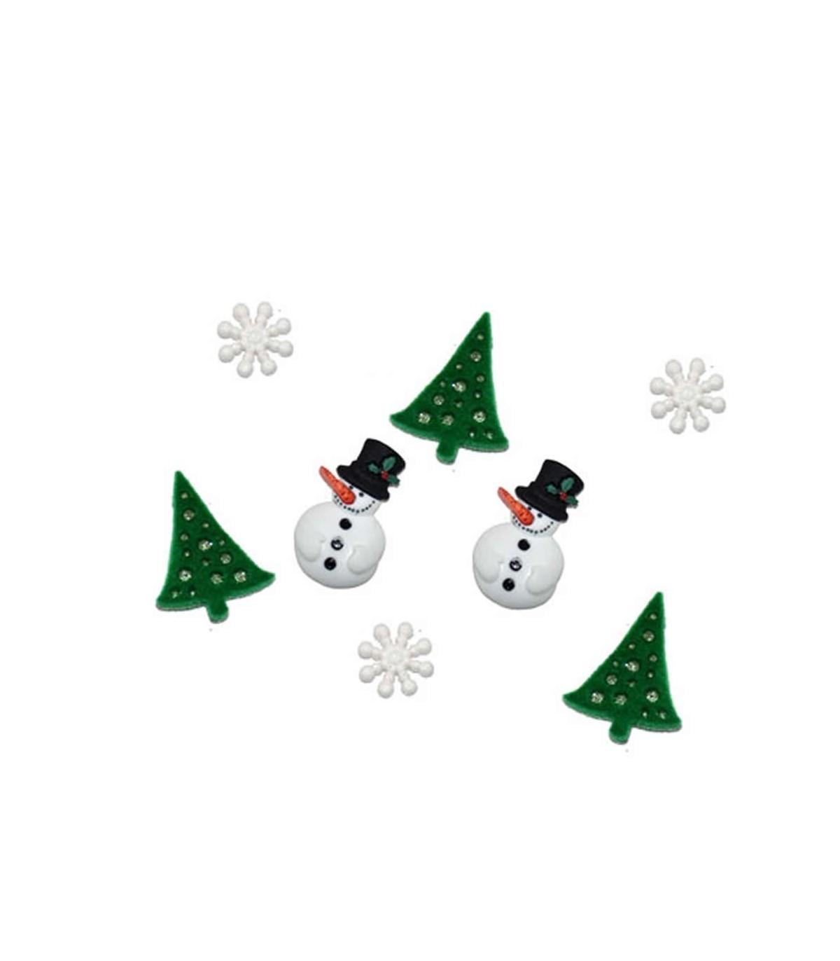 Botones Decorativos Para Patchwork De Navidad - Decorativos-de-navidad