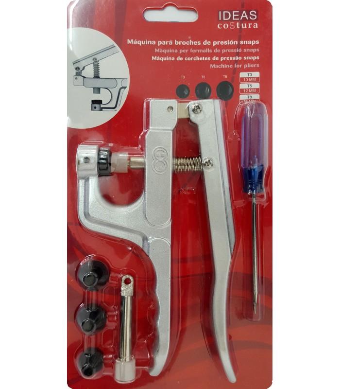 Maquina para colocar broches a presión Snaps