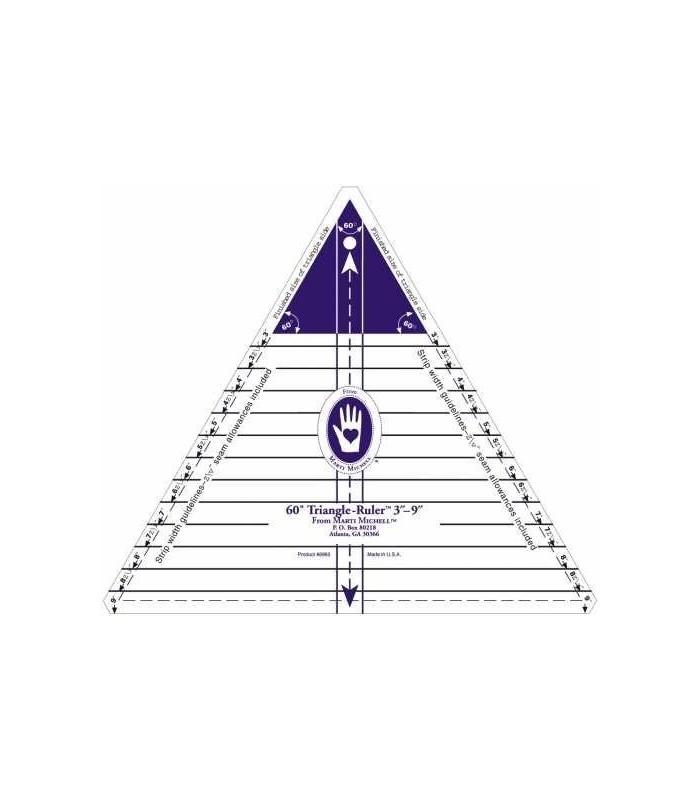 Regla Triangulo para Patchwork Martin Michell