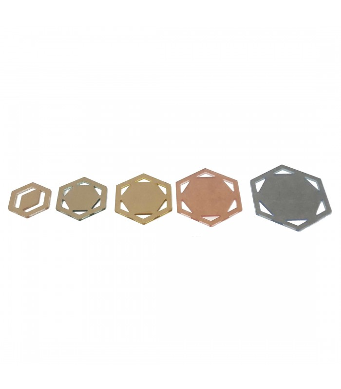 Set plantillas hexagonal