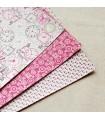 Set 3 hojas adhesivas algodón DayDream