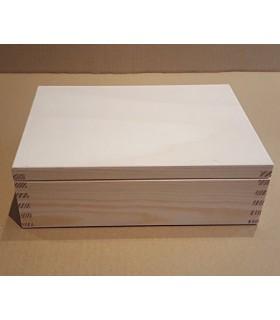 Caixa de fusta amb departaments - separadors per decorar