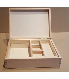 Caixa de fusta safata lliscant i departaemnts