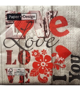 Tovalló paper LOVE