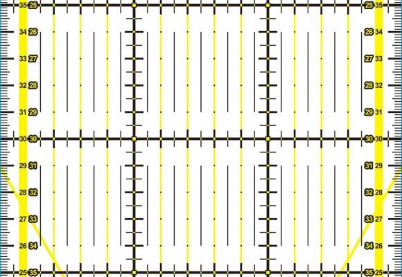 Regla patchwork 15x60 Kadusi